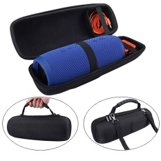 Portable Travel Carry Storage Hard Case Bag For JBL Charge 3 And Charger In Black