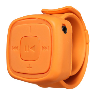 Portable Wrist Mini Sport TF Card MP3 Player Gift Wristband Multi Colors Orange - Intl