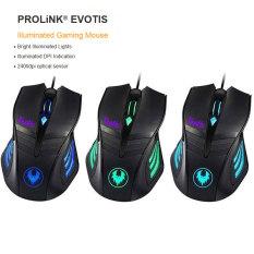 Prolink Evotis PMG9001 Illuminated Gaming Mouse - Hitam