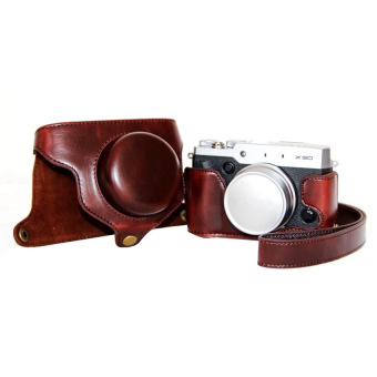 Protective PU Leather Camera Case Bag Cover For Fujifilm X30 (CameraNot Included) Coffee
