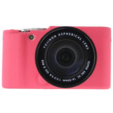 Protective Silicone Gel Rubber Camera Case Cover Bag Compatible ForFUJIFILM Fuji X Series XM1 X-M1 Camera Magenta