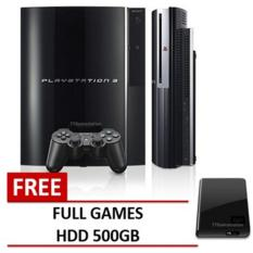 ps3 fat hdd 60gb + 500gb external isi 50 game