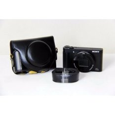 PU Leather Camera Bag Case Cover Pouch For SONY DSC-HX90V HX90 WX500 with Shoulder strap - intl