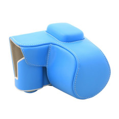 PU Leather Camera Case Bag Cover For Samsung NX300.20-55mm Lens with Strap Blue (Intl)