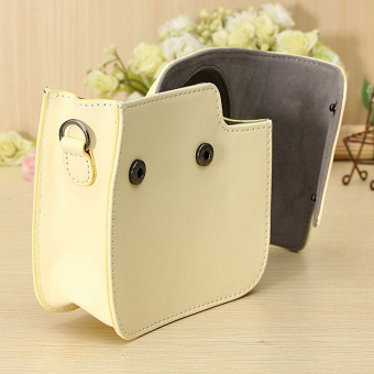 PU Leather Camera Shoulder Bag For Fujifilm Intax Mini 8/8s (Beige)