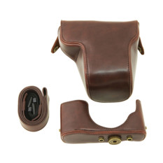 PU Leather Case Bag For Olympus EP5 Digital Camera Coffee (Intl)