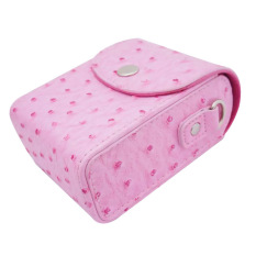 PU Leather Generic Universal Camera Case Bag Cover For Canon SonyNikon Samsung And Other Pocket Camera (Pink)
