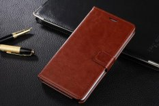 PU Leather Luxury Wallet Flip Stand Cover Case for Samsung Galaxy Note Edge N9150 (Brown