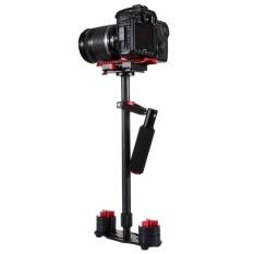 PULUZ S60T 38.5-61cm Carbon Fibre Handheld Stabilizer Steadicam For DSLR and DV Digital Video and Cameras, Capacity Range 0.5-3kg(Red) - intl