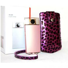 Purple Leopard PU Leather Camera Holster Photo Handbag Case For Sony KW1 TR500 - Intl