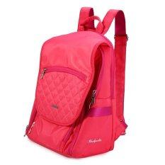 Q5 Nylon Camera Bag Backpack For Canon Nikon Sony Digital Camera (Rose) (Intl)