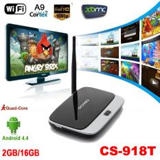 Quad Core ARM Cortex A7 Rockchip RK3128t CS-918.2G / 16G Android 4.4 TV Box XBMC DLNA OTG 1080P Bluetooth 4.0 WiFi Set Top Box - Intl