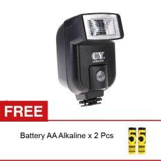 Rajawali Mini Flash Universal CY-20 for DSLR/Mirrorless + Battery AA Alkaline