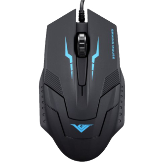 RAJFOO I5 1600DPI High Precision Programmable Gaming Mouse Ergonomic USB Wired Scroll Optical LED Game Mice