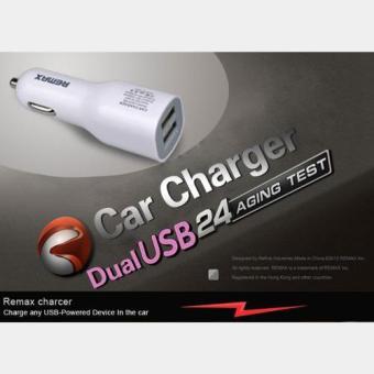 ... Remax Dual Usb Car Charger 2 1a 1a Portabel Adaptor Fast Charging Charging Car Holder Transformer