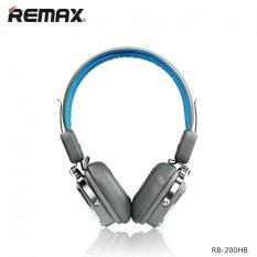 REMAX RB-200HB Wireless Bluetooth 4.1 Stereo Headphones With Microphone Wireless / Wired (Blue)