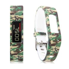 Replacement Silicone Printing Wrist Band For Garmin Vivofit 1 Smart Bracelet Camouflage Green And Yellow