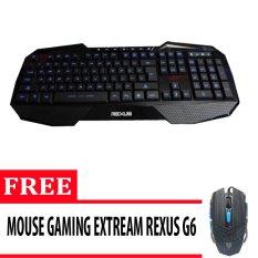 Rexus Keyboard Gaming Extream K1 - Hitam + Gratis Mouse Rexus Gaming 3D Rxm G6