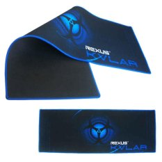 Rexus MousePad Gaming KVLAR T1 Lebar 80 x 30 x 0,3cm – Hitam/Biru