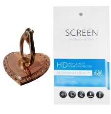 Rose Gold Love Ring Stand (firmly stick on phone / phone cover case) + Gratis 1 Clear Screen Protector for Huawei Enjoy 6