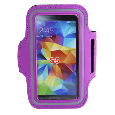 Purple Sport Workout Running Jogging Gym Arm Band Case Cover For Samsung S5 (Purple)
