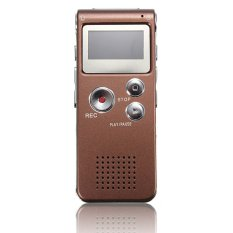 S & F Rechargeable 8GB Digital Voice Recorder Audio Dictaphone MP3 Player (Brown)