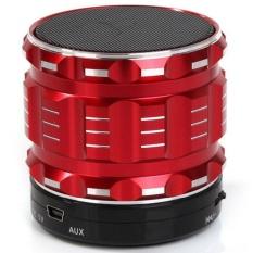 S28 Portable Mini Bluetooth Speakers Metal Steel Wireless SmartHandsFree Speaker With FM Radio Support SD Card Super BassSpeaker (Red) - Intl - Intl