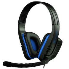 Sades Chopper SA-711 Headset Gaming - Biru Hitam with Microphone