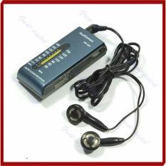 Sale! Portable 2 Band AM / FM Pocket Radio Receiver + Earphone Blue - Intl