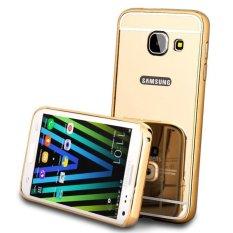 Samsung Galaxy J7 Prime Bumper Case Backcase Hardcase Casing Slide Case alumunium Metal Casing Hp-Gold