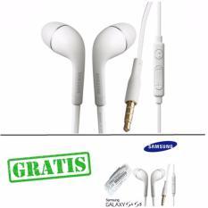 Samsung Handsfree Original Stereo S4/S5 Flat Kabel BUY 1 GET 1