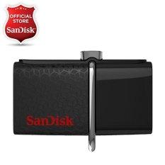 SanDisk OTG Ultra Dual USB Drive 3.0 - 32 GB - Hitam