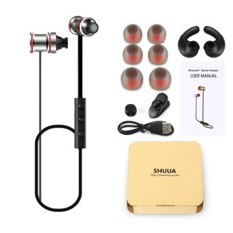 Shuua SoundBuds Bluetooth Di Telinga Earbud Olahraga Suara Super Bass Wireless Magnetic Membatalkan .