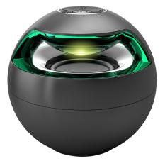 SimpleHome AJ-69 Portable Bluetooth Speaker Stereo Wireless Speakers 7 Color LED Light Handsfree AUX Big Sound Subwoofer Loudspeakers Black - Intl