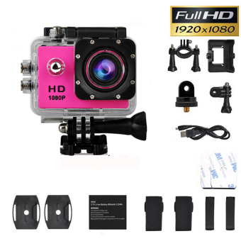 SJ4000 1080P Helmet Sports DV HD DV Action Waterproof 30M Camera Camcorder Red