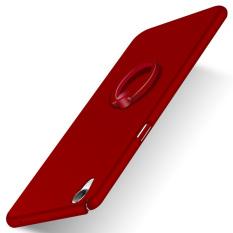 Slim Matte PC With Metal Ring Case Cov.