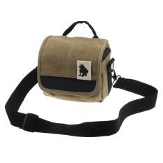 SLR Digital Camera Case Shoulder Bag Backpack For Canon / Sony (Brown)