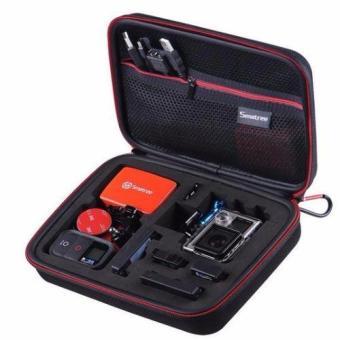 """Smatree SmaCase G160s Wadah Bawaan Kecil Dengan Potongan Busa EVA Untuk Gopro Hero 5/4 / 3 + / 3/2 / 1 Hitam (8.6"""" X6.7"""" X2.7"""") (TIDAK Termasuk Kamera Dan Aksesoris)"""