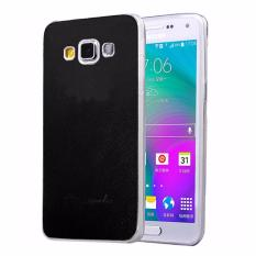Smile Case Slim TPU With Leather Untuk Samsung Galaxy Grand 1 Duos / 9082 - Hitam