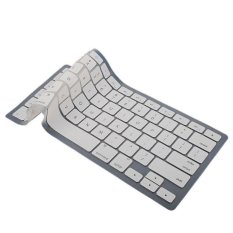 Soft Keyboard Silicone Skin Flim Cover Protector For Apple Macbook Pro 1.15 17inch White (Intl)