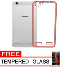 ... Softcase Silicon Jelly Case List Shining Chrome for Lenovo Vibe K5 Rose Gold Free Buy &