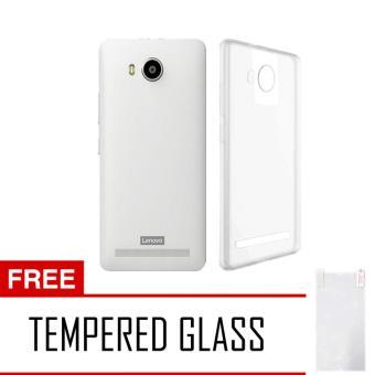 ... Softcase Ultrathin Lenovo A7700 Aircase Putih Transparant Tempered Glass