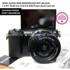 SONY ALPHA 5000 ILCE-5000L MIRRORLESS WIFI (BLACK) + E PZ 16-50 mm F3.5-5.6 OSS Power Zoom Lens Kit
