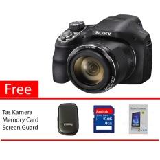SONY Cyber-shot DSC-H400 20.1MP Hitam Free Memory Card, Screen Guard, Tas Kamera
