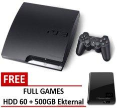 Sony Ps3 Slim 500Gb Eksternal + CFW Multiman FULL Games + Paket Lengkap - Playstation 3 Slim