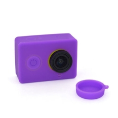 1 Pcs Sports Action Camera Lens Cover For Xiaomi Yi WIFI Action Camera Purple (Intl)