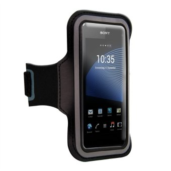 Sports Armband Band Exercises Pouch Case For Sony Xperia Z3 Z2 Z4 (Black)