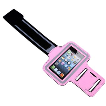 Sports GYM Arm Case Workout Portable Cover Running Riding Outdoor Net Flexible Phone Bag For IPhone5s (Pink)