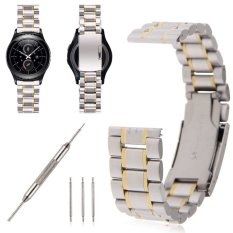 Stainless Steel Wrist Watchband Bracelet W / Tool For Samsung Gear S2 ClassicSilver + Golden