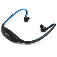 Stereo Sport Headset Headphone MP3 Music Player Micro SD TF Slot Blue (Intl)